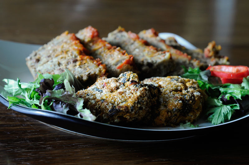 Image of Meatless Meatloaf and Lentil Walnut cutlets